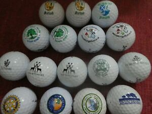 16 logo golf balls (St Andrews Ashbury Valderrama Gog Magog St Pierre)