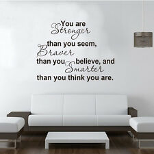 You Are Stronger Decal Wallsticker English Quote Art Living Bed Study Room Mural