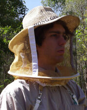 NEW ventilated fibre Beekeeping bee mosquito fly insect protective hat