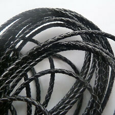 free ship 1Roll (100m) 100%Real leather braid cords 4mm