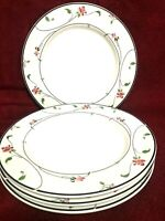"Savoir Vivre Set Of 4 Dinner Plates 10 1/2"" Spring Fantasy Japan"
