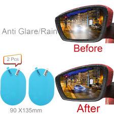 2Pcs Car Anti-Rain Glare Rearview Mirror Film Waterproof Auto Sticker 95x130mm