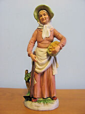 Homco Woman With Potatoes And Hoe 10 Inch Tall Figurine