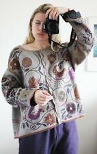 Gudrun Sjöden Gray Embroidered Floral Cotton Cardigan Size XL