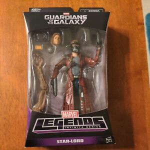 """Marvel Legends Infinite Series Star-Lord Action Figure """"Build a Figure"""" <Groot>"""