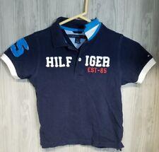 Tommy Hilfiger Boys Size 6 Polo Shirt Blue Hilfiger  Short Sleeve Logo #26