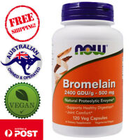 Now Foods, Bromelain, 500 mg, 120 Vegan Capsules - Natural Proteolytic Enzyme*