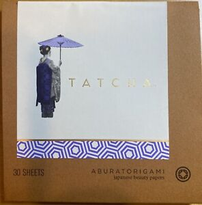 (New)TATCHA Aburatorigami Japanese Beauty Papers (30 Sheets), Handmade in Japan
