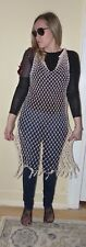 Hand made  knitted Swim suit cover dress casual pearls wrap  size S/ M Free ship