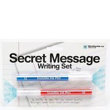 Messaggio segreto Set Penne Inchiostro Invisibile Luce UV le note di scrittura creativa Bambini Regalo