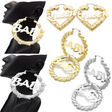 Women's Statement Queen Heart, Baby Bamboo Surgical Steel Pin Catch Earring