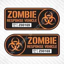 Zombie Response Vehicle Sticker Set Vinyl Decal Walking Dead Car Truck JDM Decal