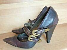 Superbes escarpins VIC MATIE cuir brun  35
