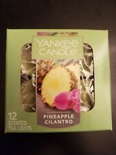 YANKEE CANDLE PINEAPPLE CILANTRO TEA LIGHTS BOX OF 12. FAST SHIPPING!