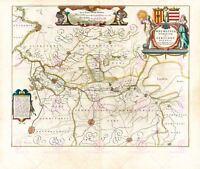 Map Blaeu 1645 Mechelen Duchy Aarschot Large Canvas Art Print
