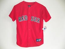 NEW BOSTON RED SOX YOUTH MEDIUM BOYS (10-12) ALTERNATE MAJESTIC BASEBALL JERSEY