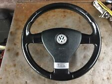 VW GOLF MK5 GT BLACK LEATHER 3 SPOKE STEERING WHEEL CADDY TOURAN ETC