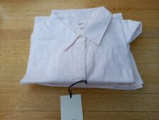 Women's GAP White Cotton Long Sleeved Boyfriend Fit Shirt Size XL - Pink