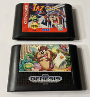 Taz-Mania And Taz In Escape From Mars, Sega Genesis/ Tested/ Authentic