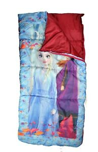 Frozen II Sleeping Bag Outdoor Indoor Elsa Anna Travel Girls Camping Kids