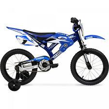 16 BMX Moto Yamaha Boys Bike Blue Steel Frame Kids Bicycle Motocross Style NEW