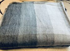 Alpaca Blanket Throw Striped Grey Gray Color Alpaca Wool Twin Nwot Soft Warm