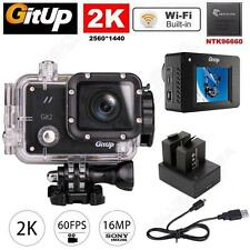Gitup Git2 Pro WiFi 2K Helemet Sports Camera Car Camera+Dual Battery Charger Kit