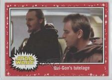 2017 Topps Star Wars: Journey to The Last Jedi Target Red #1 Qui-Gon Jinn 1n1