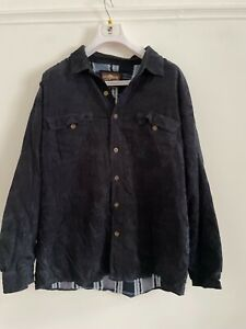 LEVI'S BLUE CORD MEN'S OVER SHIRT LINED USED SIZE  XL R9 OVERSHIRT