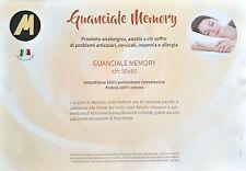 CUSCINO GUANCIALE MEMORY FOAM H 12 SAPONETTA ANALLERGICO ANATOMICO SUPER OFFERTA