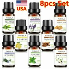 8 Pack Essential Oil 100% Pure Natural Aroma Therapeutic Grade Oils 10ml
