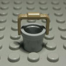 Lego Figur Zubehör Eimer new Grau Dunkelbeige Friends                    (135 #)