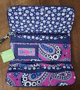 Vera Bradley Boysenberry Tri Fold Wristlet Wallet Very Nice New