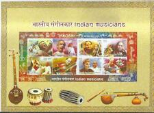 2014 INDIAN MUSICIANS-PRESENTATION PACK with Miniature Sheet