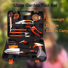NEW 12 Pieces Garden Hand Tools Set Home Lawn Kit trowel Household Equipment MAX