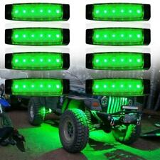 8X LED Rock Light For JEEP Offroad ATV Truck Bed Under Body Fog Lights Green