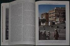 1947 YEMEN magazine article, Arabia, history, people etc color photos