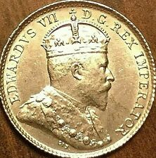 1902 CANADA SILVER 5 CENTS COIN - Uncirculated