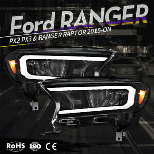 VLAND LED Projector Headlights For Ford Ranger PX Raptor 2015-ON Mustang style