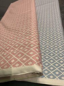 Diamond Geometric fabric,100% cotton-pink/blue  cotton fabric/