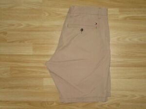 Mens TOMMY HILFIGER Brown Organic Cotton Chino Shorts Size W 34 Regular Fit VGC!