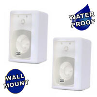 Acoustic Audio 151W Indoor Outdoor 2 Way Speakers 600 Watt White Pair