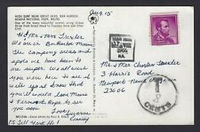 Boxed St. John, New Brunswick cancel on post card with postage due in U 00004000 .S.