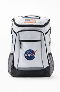 NASA - Built Up Backpack (NEW) White SPACE AGENCY School Book Bag FREE SHIPPING