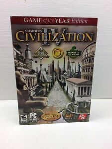 Sid Meier's Civilization IV, Game of the Year Edition, PC Still Sealed NOS MINT