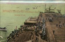 US Navy Landing at San Diego First Land Since Hampton Roads VA Postcard