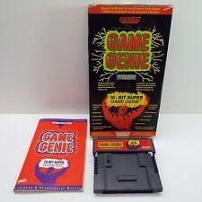 GAME GENIE VIDEO GAME ENHANCER (SUPER NINTENDO SNES) BOXED (LOOK DESC.) C1600