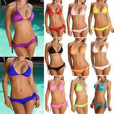 Sexy Damen Verband Bikini Badeanzug Set Padded Push-up BH Bademode Beachwear Neu