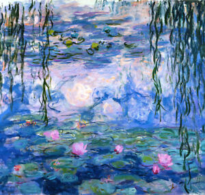 Claude Monet Water Lilies 3 canvas print giclee 8X8&12X12 art reproduction
