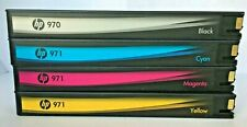 New Genuine HP 970 Black 971 Cyan Magenta Yellow, Color LaserJet 1500 4-16PPM